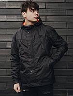 Мужская ветровка Staff black long pockets , Материал: 100% полиэстер, Цвет: черный