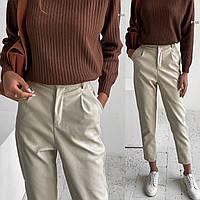 Брюки женские стильные кожаные