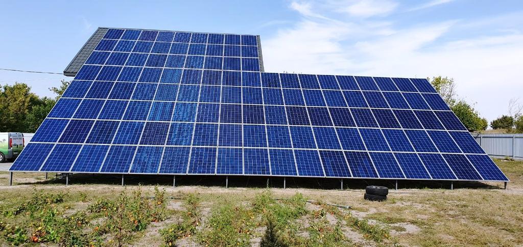 """Єрки сонячна електростанція під """"зелений"""" тариф потужністю 33 кВт Amerisolar + Huawei Черкаська область"""