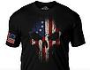 Футболка мужская патриотическая  Дух воина цветной  флаг США 7.62 Design  betsy ross flag skull, фото 3