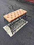 Кована банкетка, пуф для прихожей 80 см, фото 2
