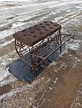 Кована банкетка, пуф для прихожей 80 см, фото 3