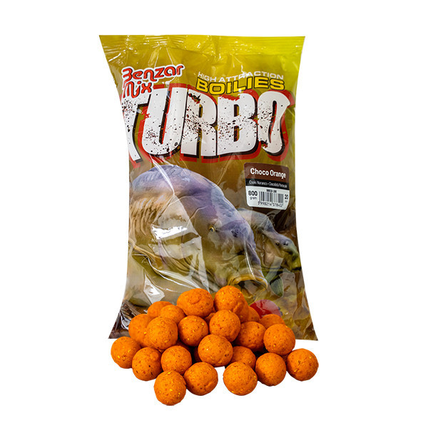 Бойл Benzar Turbo Boilie 800г 15мм SPICY Fish