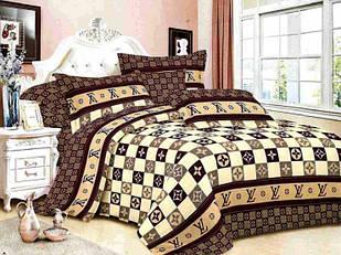 Комплект постельного белья Луи Витон Бязь Gold полуторный размер 150х215 см