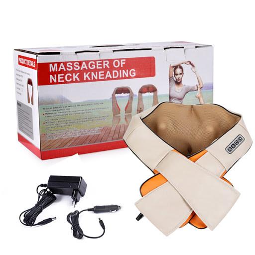 Массажер электрический Electric Massager для шеи, спины 220+12 watt