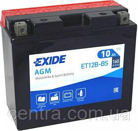 Мото аккумулятор EXIDE ET12B-BS 10Ah