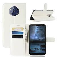 Чехол-книжка Litchie Wallet для Nokia 9 PureView White