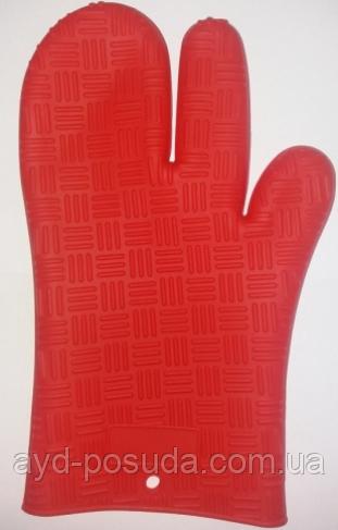 Силиконовая рукавица 830-33-1 (красная)
