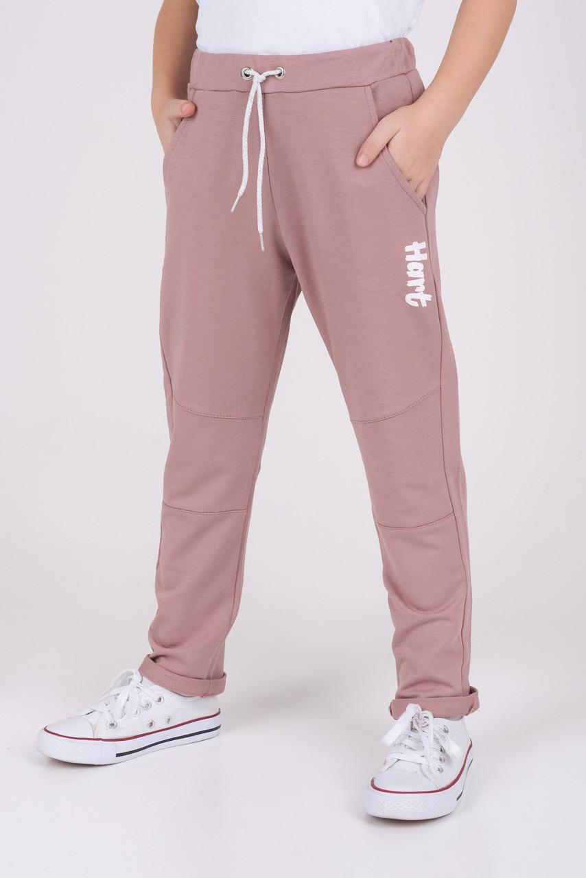 Спортивные штаны для.девочки Пудра  р. 98, 116