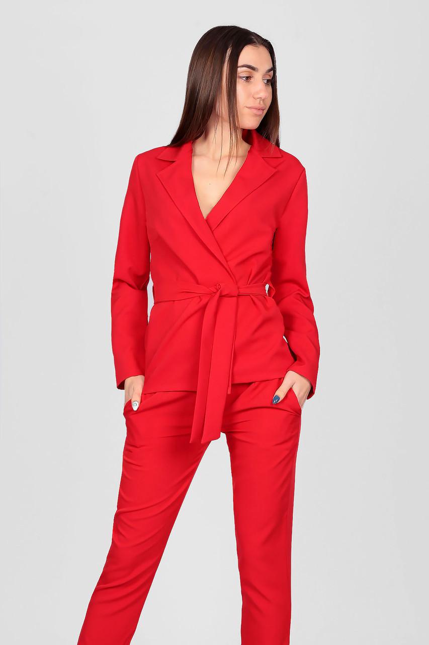 S, M,  XL / Жіночий брючний костюм Astrid, червоний