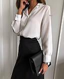 Сорочка жіноча біла, чорна, 42-44, 44-46, фото 3