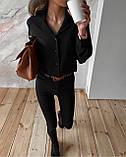Рубашка женская белая, чёрная,  42-44, 44-46, фото 2
