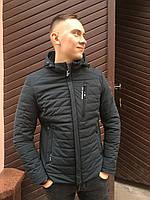 Мужская куртка ветровка парка короткая весенняя спортивная классика молодежная