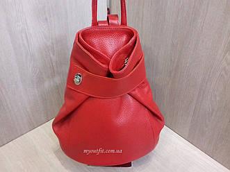 Женская кожаная сумка рюкзак