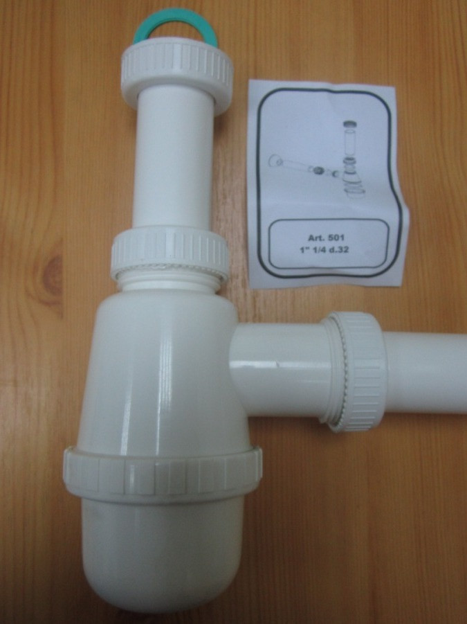 Сифон для умывальника диаметр 32 мм (Италия)