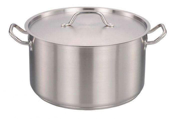 Кухонная кастрюля Benson BN-629 с крышкой на 12 литров нержавеющая сталь PR5