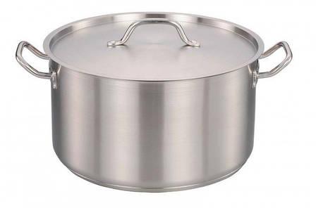 Кухонная кастрюля Benson BN-629 с крышкой на 12 литров нержавеющая сталь PR5, фото 2