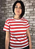 """Женская футболка белая с красным """"Норма"""""""