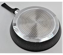 Набор сковородок с антипригарным мраморным покрытием Benson BN-505 (20см, 24см, 26см) / сковорода PR5, фото 2