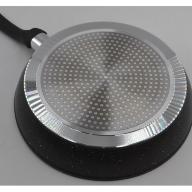 Сковорода литая - кованый алюминий с крышкой. Мраморное покрытие внутри - 24 см. Benson BN-340 PR4, фото 2
