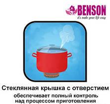 Набор кастрюль из нержавеющей стали 6 предметов для ресторанов и кафе Benson BN-215 (11 л, 13 л, 16 л) PR5, фото 2