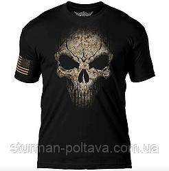 """Футболка  мужская  атриотическая  """" Дух война""""   7.62 Design USMC Desert MARPAT Skull  США -S"""