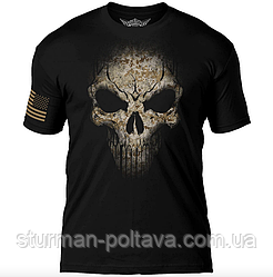 Футболка  мужская  Дух война  7.62 Design USMC Desert MARPAT Skull  Battlespace Men's T-Shirt
