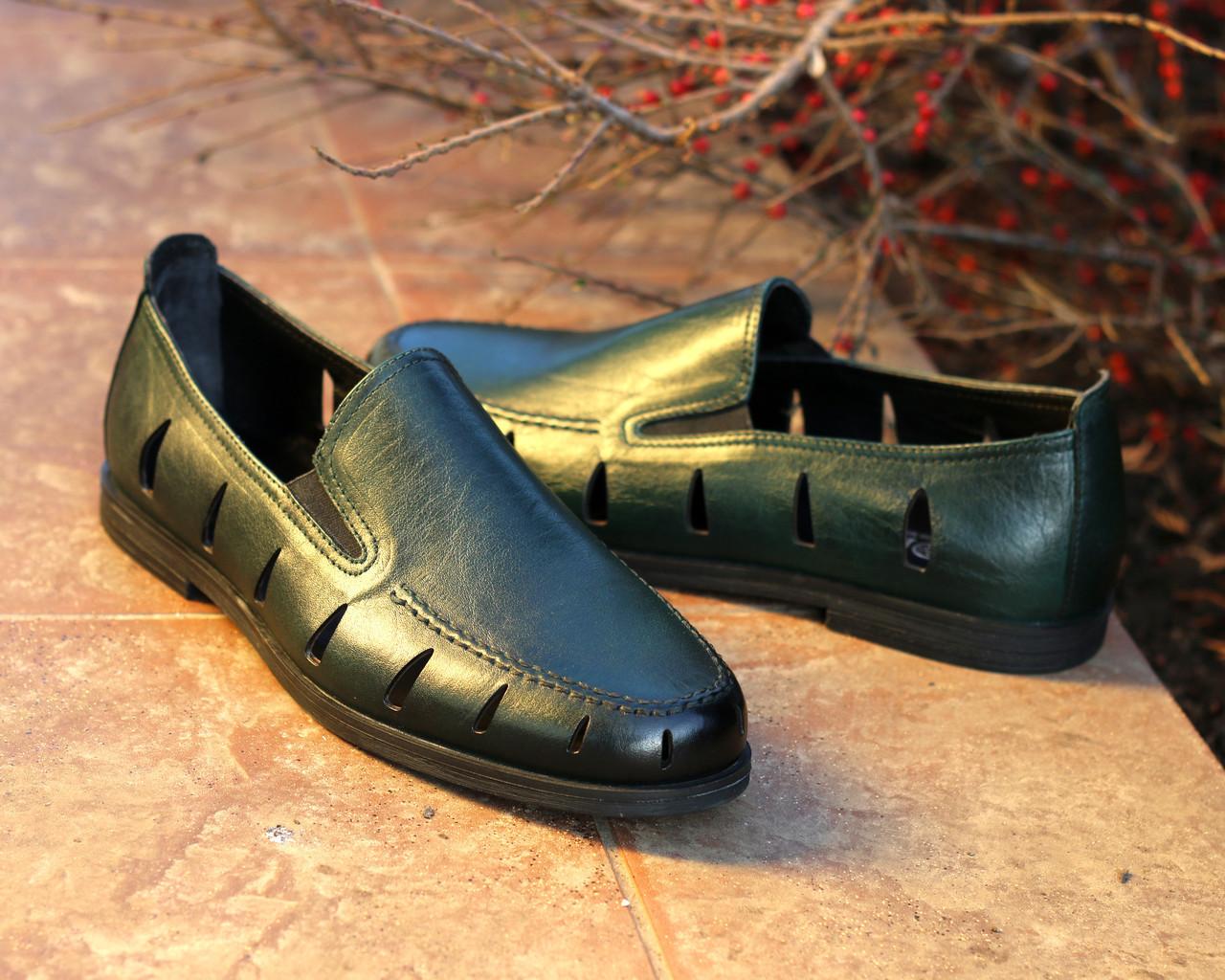 Туфли Etor 16297-6589-203 40 зеленые