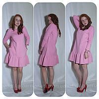 Платье женское розовое из двухнитки и в других цветах Сукня жіноча