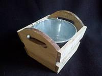 Ящик деревянный с цинковым ведром, в-11см, (85\65)(цена за 1 шт. +20 грн.)