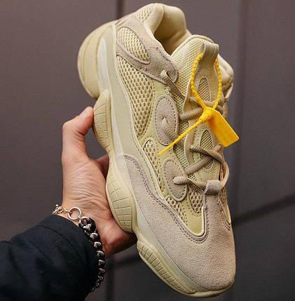 """Мужские и женские кроссовки Adidas Yeezy Boost 500 """"Super Moon Yellow"""", фото 2"""