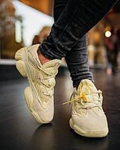"""Мужские и женские кроссовки Adidas Yeezy Boost 500 """"Super Moon Yellow"""", фото 3"""