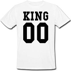 Мужская именная футболка KING (принт спереди) [Цифры можно менять] (50-100% предоплата)