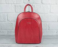Стильный небольшой рюкзак-сумка Diana Firenze 1631-2 красный, трансформер (Италия), фото 1