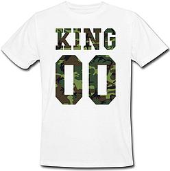 Мужская именная футболка KING - Military (принт спереди) [Цифры можно менять] (50-100% предоплата)