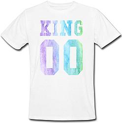 Мужская именная футболка KING - Multicolor (принт спереди) [Цифры можно менять] (50-100% предоплата)