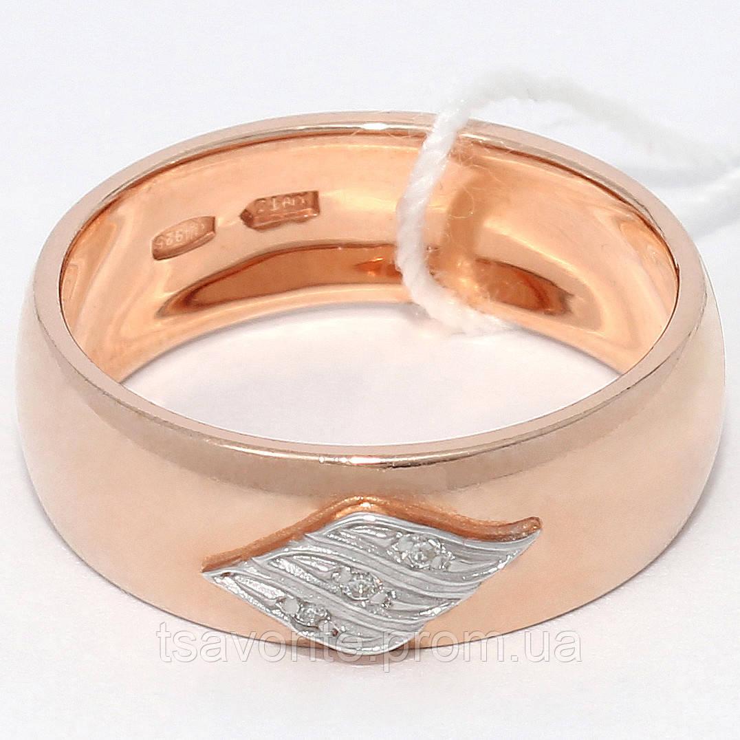 Серебряное обручальное кольцо КЖХ-40