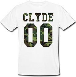 Мужская именная футболка CLYDE - Military (принт спереди) [Цифры можно менять] (50-100% предоплата)