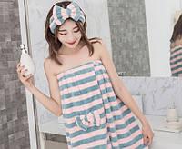 Комплект полотенце  с повязкой на голову.