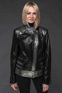 Женская куртка косуха из натуральной кожи