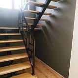 """""""П-образный"""" Каркас лестницы на центральном несущем косоуре, фото 8"""