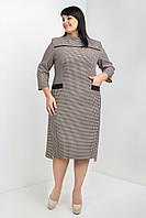 Классические женское большего платье в клетку из костюмной ткани размеры 54,56,58