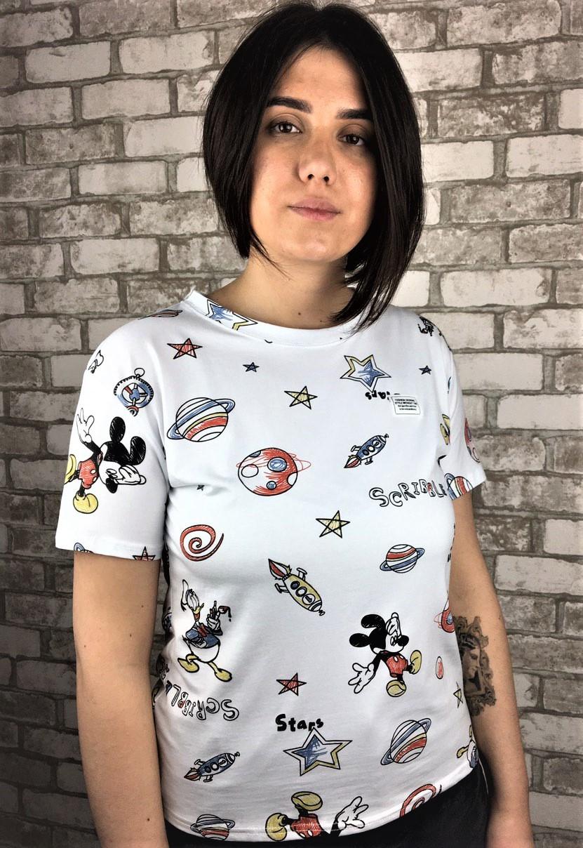 "Женская футболка Микки ""Норма"""