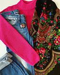 Душевный разговор 1113-18, павлопосадский платок шерстяной с шелковой бахромой, фото 8