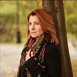 Душевный разговор 1113-18, павлопосадский платок шерстяной с шелковой бахромой, фото 10