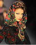 Душевный разговор 1113-18, павлопосадский платок шерстяной с шелковой бахромой, фото 5