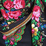 Душевный разговор 1113-18, павлопосадский платок шерстяной с шелковой бахромой, фото 9