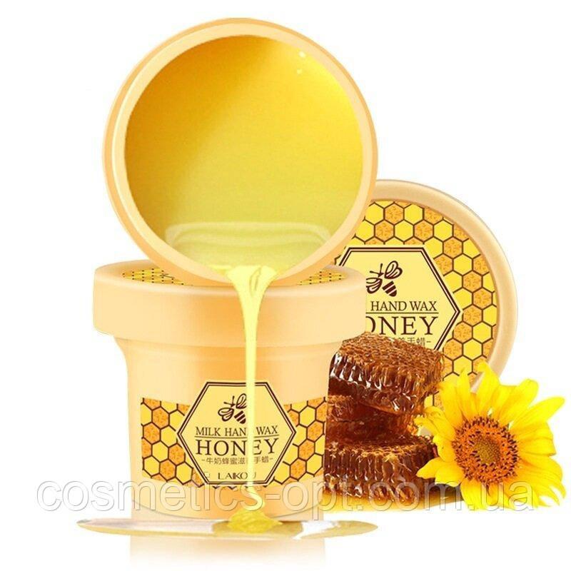 Парафиновая маска-пленка для рук с медом и маточным молоком Laikou Milk Hand Wax Honey, 120 г