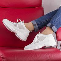 Женские  белые кроссовки HLN 8805 WHITE весна 2020, фото 1