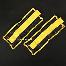 """Утяжелители для рук и ног """"HF Стандарт"""" черно-желтый 0.5 кг (2 шт по 0.25 кг)"""